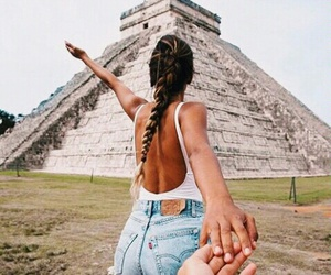 travel, couple, and mexico image