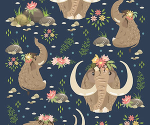 mammoth, pattern, and animal image