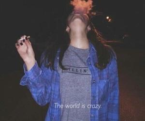 smoke, girl, and grunge image
