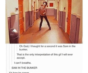 bunker, funny, and sam winchester image