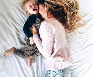 baby, laugh, and mother and son image