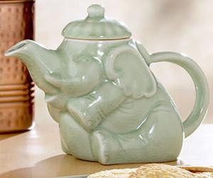 elephant, sitting, and tea pot image