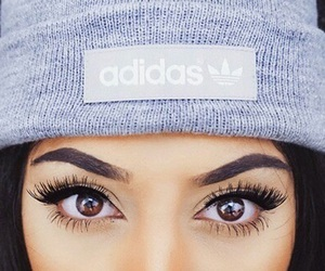 adidas, eyes, and makeup image