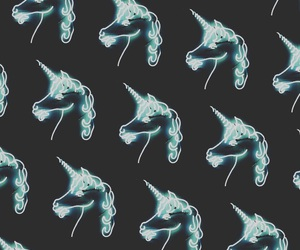 unicorn, wallpaper, and blue image