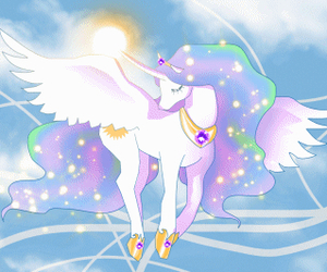 unicorn, blue, and cute image