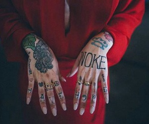 tattoo, nails, and pretty image