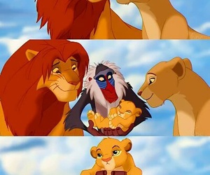 disney, family, and lion image