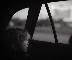 big world, black and white, and boy image