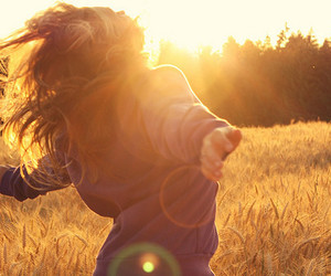 girl, sun, and free image