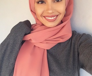 hijab, makeup, and muslim image