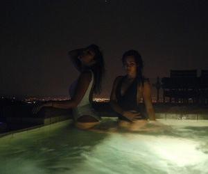 pool, night, and goals image