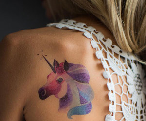 tattoo, unicorn, and cute image