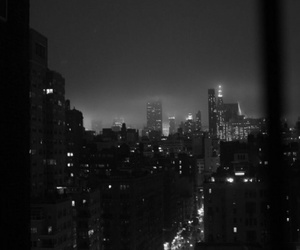 city, black, and light image