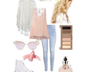 casual, outfits, and pink image