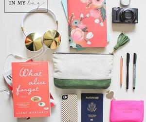 bag, book, and camera image
