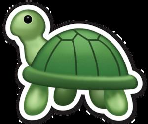 turtle and emoji image