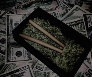 weed, money, and smoke image