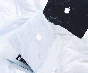 apple, macbook, and white image