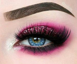 beauty, eyeliner, and glitter image