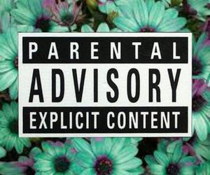blue, parental advisory, and wallpaper image