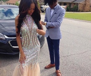 couple, dress, and Prom image
