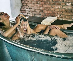 couples, happiness, and jacuzzi image