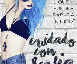 blue, hair, and portada image