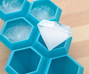 ice, diamond, and blue image