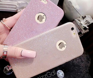 glitter, phone case, and iphone image
