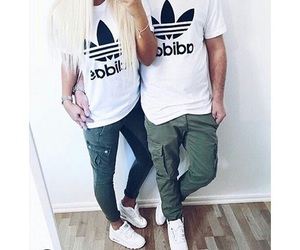 couple, cute, and adidas image
