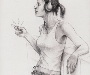 girl and illustration image