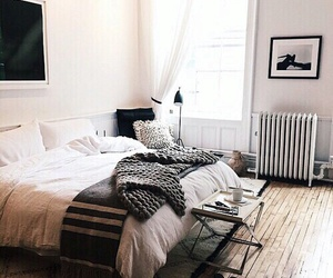 interior, home, and bed image