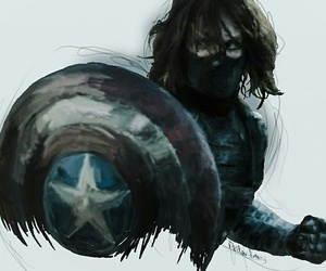 bucky, captain america civil war, and winter soldier image
