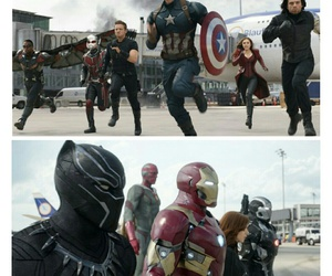 black panther, black widow, and captain america image