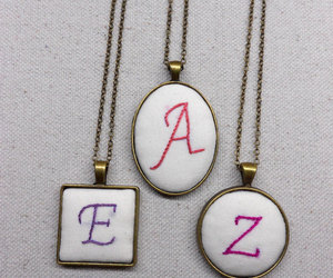 etsy, initial necklace, and initial jewelry image