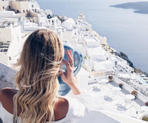 travel, girl, and Greece image
