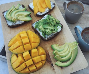 avocado, coffee, and fitness image