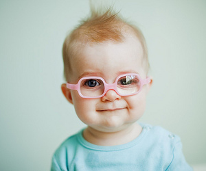 baby, glasses, and pink image