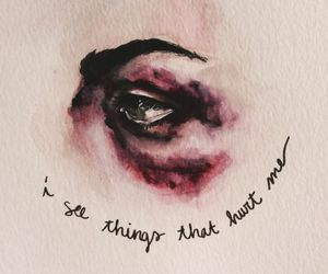 quotes, art, and hurt image