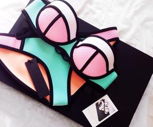 bikini, fashion, and triangl image