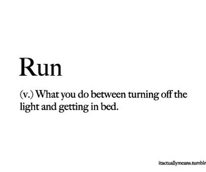 run, funny, and quote image