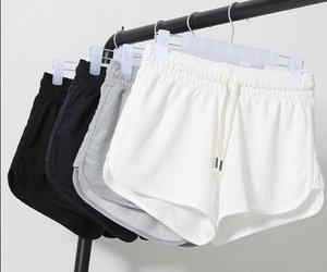 shorts, fashion, and white image