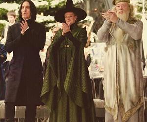 dumbledore, severus snape, and harry potter image