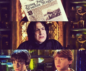 harry potter, ron weasley, and severus snape image