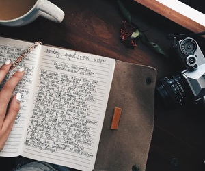 camera, goals, and journal image
