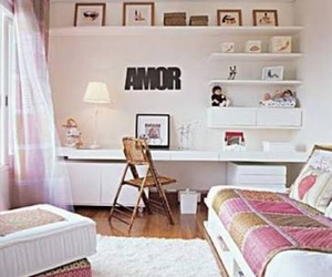 room, bedroom, and pink image