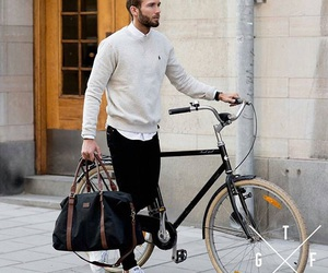 bike, fashion, and man image