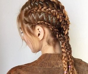 braid, beauty, and blonde hair image