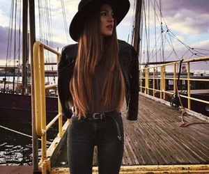 girl, style, and hat image