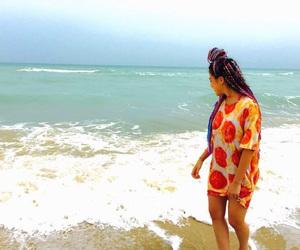 beach, blue, and braid image